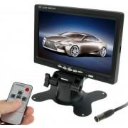 7.0 inch Automonitor / Bewakingscamera's Monitor met verstelbare hoekhouder en afstandsbediening, dubbele video-ingang