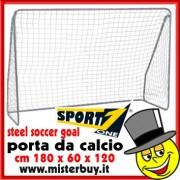 PORTA DA CALCIO IN ACCIAIO VERNICIATO cm 180x60x120h