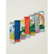 Mini Bunt, Szenen Box mit Socken im 7er-Pack Mädchen Boden, 27-30, Multi
