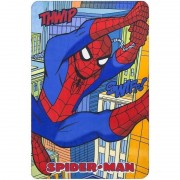 Marvel Spiderman fleece deken/plaid multikleur voor jongens