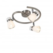 Trio Leuchten Ceiling spot steel swivel and tiltable 3-light - Nadia