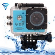 SJ7000 Full HD 1080P 2.0 inch LCD Screen Novatek 96655 WiFi Sports Camcorder Camera with Waterproof Case 170 Degrees HD Wide-angle Lens 30m Waterproof(Blue)