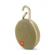 JBL Clip 3 - водоустойчив безжичен портативен спийкър (с карабинер) с микрофон за мобилни устройства (златист)
