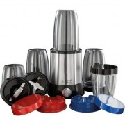 Blender Russell Hobbs NutriBoost 23180-56, 700 W, Set de 15 piese, 3 recipiente 700 ml, 2 recipiente 350 ml, 2 lame, Inox/Negru