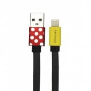 USB kábel Disney - Minnie Apple lightning 8pin 1 méter piros