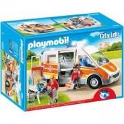Комплект Плеймобил 6685 - Линейка със светлини и звук, PLAYMOBIL - Ambulance with Lights and Sound, 6685