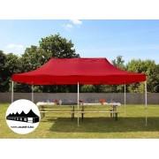 3x6m összecsukható pavilon piros Professional (Harmonika sátor)
