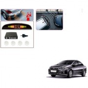 Auto Addict Car White Reverse Parking Sensor With LED Display For Fiat Linea