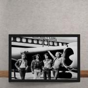 Quadro Decorativo Led Zeppelin Embarcando 25x35