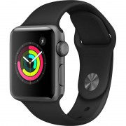 Smartwatch Apple Watch Series 3 GPS 38mm Space Grey Aluminium Case Black Sport Band