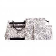 Chele and Maye Paisley White Nappy Bag