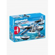 Playmobil 9436 Hidroavião da polícia, da Playmobil azul medio liso com motivo