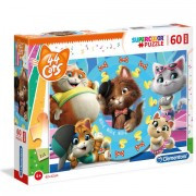 Puzzle Maxi Glitter 44 Cats Clementoni 60 piese