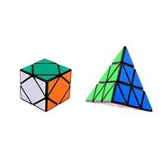 Vortex Toys Skewb, Sequre-1,& Pyraminx Magic Rubik Cube Combo Puzzle Brainstorming Game Toy