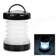 5-LED 8lm 2-Mode linterna al aire libre de luz blanca - blanco + negro (3 * aaa)