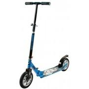 Самокат городской NOVATRACK POLIS, надувные колеса 200мм, черно-синий