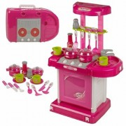 Luxury Battery Operated Kitchen Set With Lights Sound and Carry Case