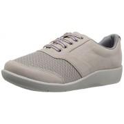 Clarks Women's Sillian Emma Walking Shoe, Sand Synthetic, 6. 5 W US