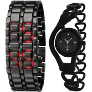 TRUE COLORS STYLISH WATCH SET FOR COUPLE MADE FOR EACH OTHER Analog-Digital Watch - For Men Women