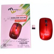 multybyte Wireless Optical Mouse shape MMPL W-1 For HP (Red Color)