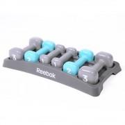 Reebok Dumbbell Set with Case - Grey/Blue - Grey/Blue