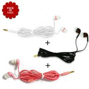 High Bass Best Sound InEar Earphone Without Mic Compatible With All 35mm jack - Assorted Color