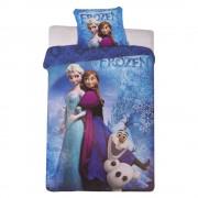 Спално бельо и калъфка Frozen 140x200 сини