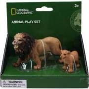 Set 2 figurine National Geographic Leul si puiul