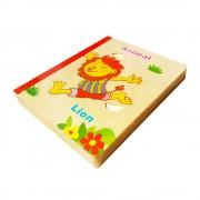 Animale - Prima mea carte cu puzzle din lemn
