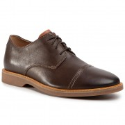 Обувки CLARKS - Atticus Cap 261452807 Dark Brown Leather