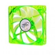 Вентилатор 120mm, DeepCool Xfan 120U G/B, Green LED, 1300rpm