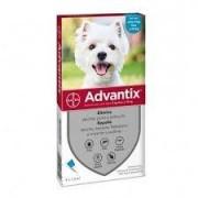Bayer Animali Bayer Advantix Spot-On Antipulci Antipidocchi Cani Da 4 A 10 Kg 4 Pipette Da 1ml