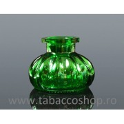 Vas din sticla pentru narghilea mica verde 75mm