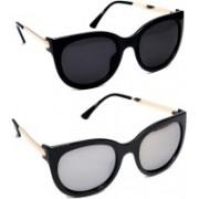 TheWhoop Clubmaster Sunglasses(Black, Silver)