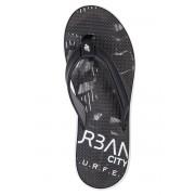 4f Black férfi nyári lábujjközös papucs