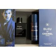 Chanel Bleu Pour Homme EDP 100 ml + Deodorant Spray 150 ml - За мъже