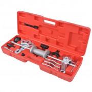 vidaXL Set extractor cu ciocan culisant, 9 poziții, 17 piese