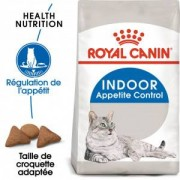 Royal Canin Indoor Appetite Control pour chat 3 x 4kg