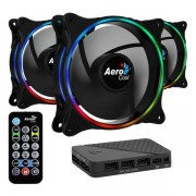 Set 3 ventilatoare Aerocool Eclipse Pro 120mm, iluminare aRGB
