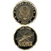 United States Military US Armed Forces Army OH-58D Kiowa Helicopter - Good Luck Double Sided Collect