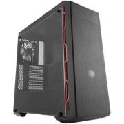 """CARCASA COOLER MASTER MasterBox MB600L w/ODD, window version, mid-tower, ATX, 1* 120mm fan (incluse), I/O panel, black&red """"MCB-B600L-KA5N-S00"""""""