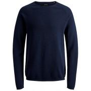 Jack&Jones Pánský svetr JJEHILL KNIT CREW NECK NOOS Ensign Blue S