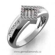 Luxusní prsten s diamanty Sofie, bílé zlato