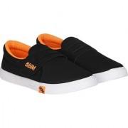Exclusive Depcy Casual Black Orange Men Loafer-003