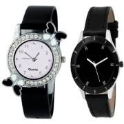 Slim & Shiny Look Black & Black butterfly on diamond studded case analog 71436 Standard Quality Premium Colllection