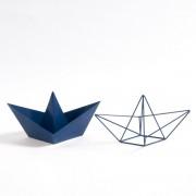 "LA REDOUTE INTERIEURS 2 Deko-Schiffchen ""Gayoma"", Origami-Stil, Metall"