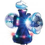 LED diskotéková lampa 2 x 10 cm zrkadľujúca guľa, 230V