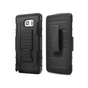 Rugged Case with Holster Belt Clip for Samsung Galaxy Note 5 - Samsung Impact Case (Classic Black)