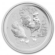 Lunární série II. stříbrná mince 2 AUD Year of the Rooster Rok kohouta 2 Oz 2017