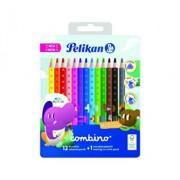 Creioane color Combino, set 12 culori + 1 creion grafit